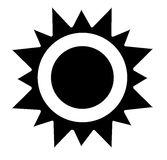 Vector sun icon Stock Images