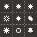 Vector sun icon set Royalty Free Stock Photography
