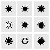 Vector sun icon set Royalty Free Stock Image