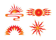 Vector sun icons Stock Photography