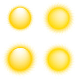 Vector sun icons Stock Photo