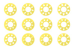 Vector sun icons set. Flat design. Can be used for your design and ideas Royalty Free Stock Image