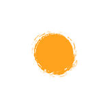 Vector  sun logo design template. Abstract dots symbol. Round unusual shape. Royalty Free Stock Image