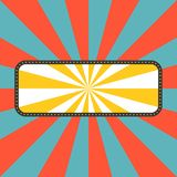 Vector sun rays with frame in retro style Stock Photo