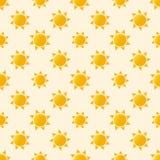 Vector sun seamless pattern Stock Image