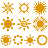 Vector Sun Stock Photography
