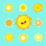 Vector sun. Stock Photo