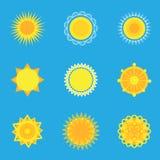 Vector sun. Stock Photography