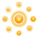 Vector sun symbol Royalty Free Stock Photography