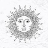 Vector sun tattoo Royalty Free Stock Photography