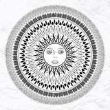 Vector sun tattoo Royalty Free Stock Image