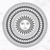 Vector sun tattoo Royalty Free Stock Image