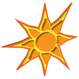 Vector sun with a volumetric effect Stock Photos