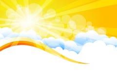 Vector sunburst Stock Photo