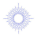 Vector sunburst design element. Linear drawing of rays by ink. Royalty Free Stock Images