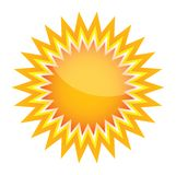 Vector sunburst shape Royalty Free Stock Images
