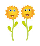 Vector sunflower Royalty Free Stock Image