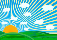 Vector sunny day. Clip-art Stock Image