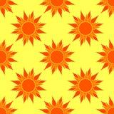 Vector Sunny Orange Seamless Pattern Foto de archivo libre de regalías