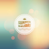 Vector sunny shine  background with summer text Stock Photos