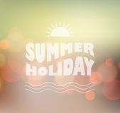 Vector sunny shine  background with summer text Royalty Free Stock Photo
