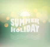 Vector sunny shine  background with summer text Royalty Free Stock Image