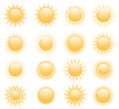 Vector suns icons Royalty Free Stock Photos
