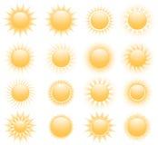 Vector suns icons Royalty Free Stock Photos