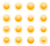 Vector suns icons Stock Photography