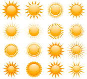 Vector suns icons Royalty Free Stock Photo
