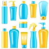 Vector Sunscreen Cosmetics Stock Photos