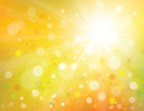 Vector  sunshine background. Stock Photos