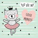 Little princess card Stock Image