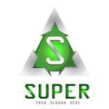 Vector super embleemmalplaatje Stock Foto's