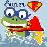 Vector super frog Stock Photo