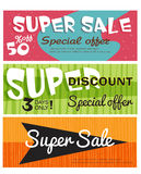 Vector super sale Royalty Free Stock Image