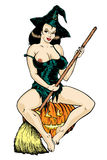 Vector. Super sexy witch. Stock Image