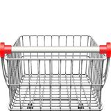 Vector Supermarket Cart Rear View Royalty Free Stock Images