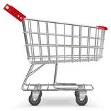 Vector Supermarket Cart Stock Image
