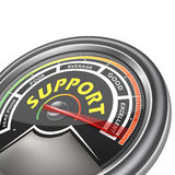 Vector support conceptual meter indicator Royalty Free Stock Photos