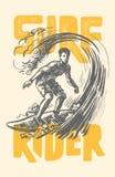 Vector surf man. Stock Photo