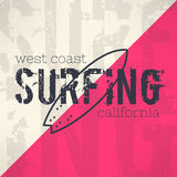 Vector surf typography in grunge design  Stock Photo