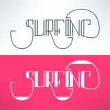 Vector surf vintage lettering design background Stock Photography