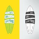 Vector surfboard in cartoon graffiti design Stock Photography