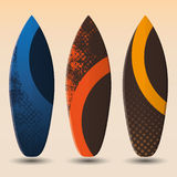 Vector Surfboard Designs Royalty Free Stock Image