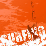 Vector surfing Royalty Free Stock Photography