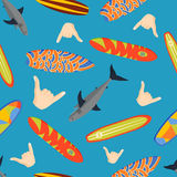 Vector surfing pattern. Stock Photography
