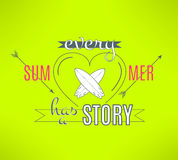 Vector surfing summer lettering design. Cool Stock Photos