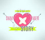 Vector surfing summer lettering design. Cool Stock Images