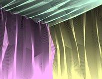 Vector surreal illusiekunst voor ontwerp, 3d dimensionaal van de lijnkunst vector illustratie